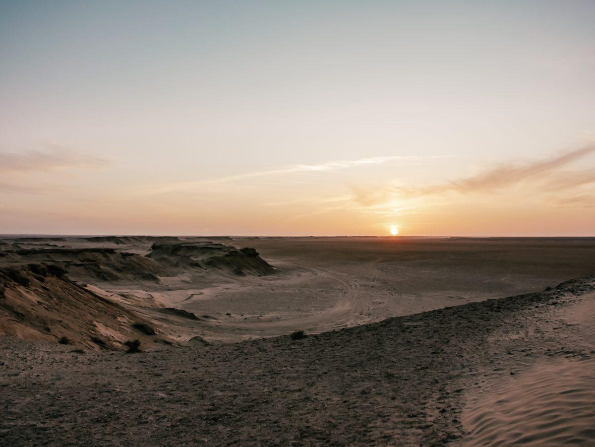 Tozeur landscape at sunset