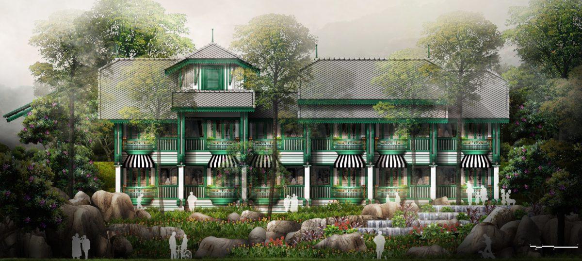 DW-11 Oriental Express - Guestroom building C - Lake Elevation 1-25 R200
