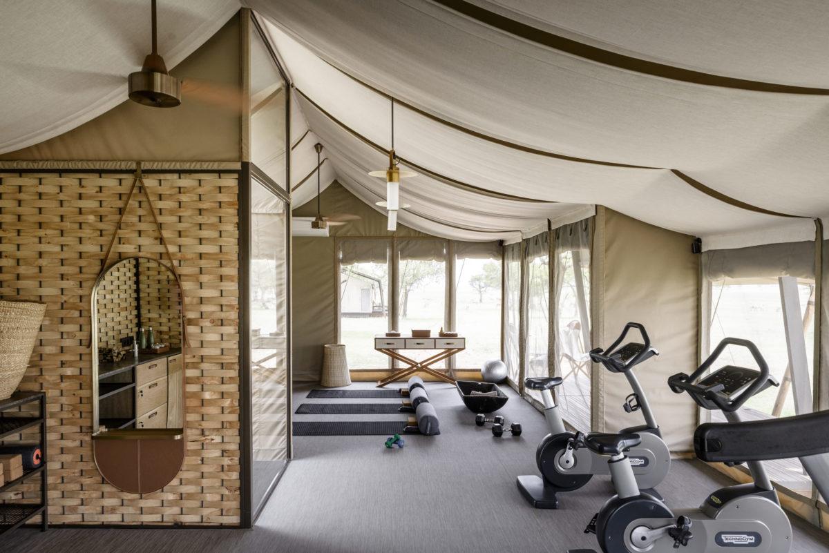 Singita Sabora Tented Camp gym